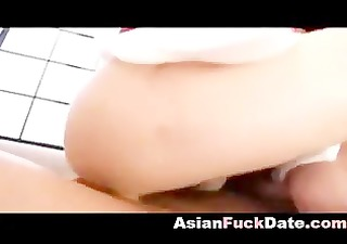 oriental older receives filled with sex cock juice